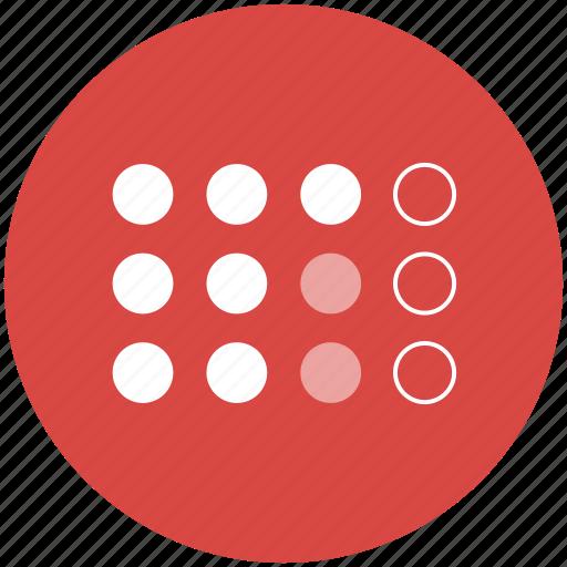 circles, dot matrix, dots, grid, points icon