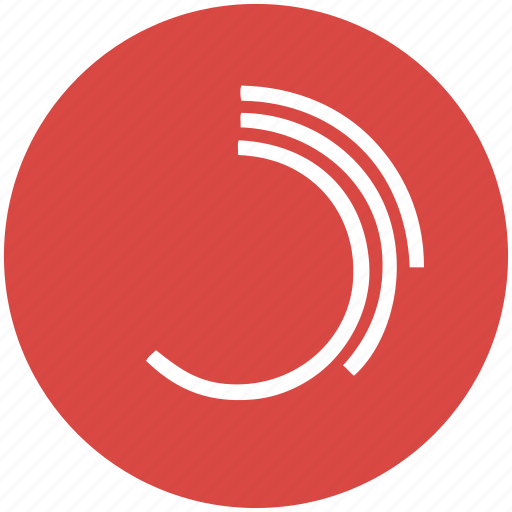 chart, curved, curves, radial, radial bar graph icon