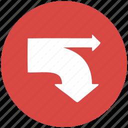 arrow, arrows, diagram, direction, navigation, paths, sankey icon