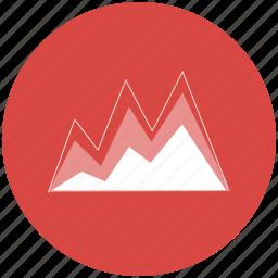 area chart, area graph, chart, data visualisation, data visualization, dataviz, graph icon