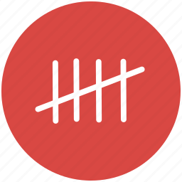 count, counting, crossout, marks, tally, tally chart icon