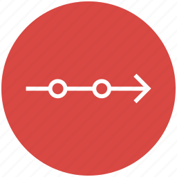 arrow, diagram, direction, right, time line, timeline icon