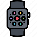 communication, electronics, phone, smartwatch, technology icon