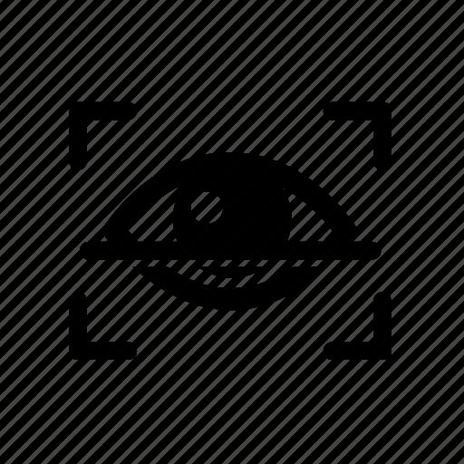 biometric, eye, iris, occular, retina, retinal, scan icon