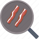 bacon, eat, food, pan icon