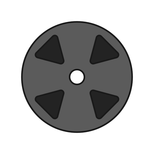 film, movie, record, tape icon