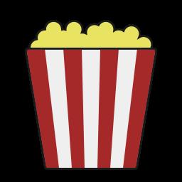 food, movie, popcorn, snack, theater icon