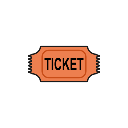 money, movie, pass, theater, ticket icon