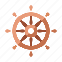 cruise, helm, nautical, ship, steering, wheel, yacht icon