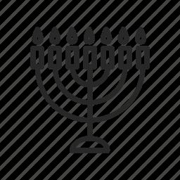 candle holder, candles, israel, menorah, religion, symbols, the jews icon