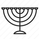 candle, candles, chanukia, israel, religion, symbols, the jews icon