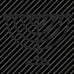 candle, candles, chanukia, israel, religion, symbols, the jews icon