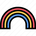 after rain, rainbow, weather icon