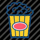 cinema, emoji, food, holidays, movie, popcorn icon