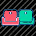 armchair, couch, furtniture, interior, sofa icon