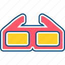 cinema, film, glass, glasses, vr icon