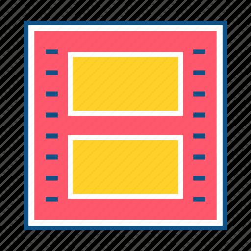 clip, film clip, film roll, movie, movie clip, video icon