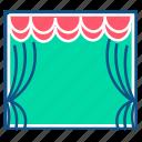 cinema, laptop, movie, screen, seat, theatre, theatre screen icon