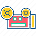 camcoder, camera, device, movie, recorder, video, video recorder icon