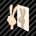 arm, cartoon, dark, finger, fun, play, rabbit icon