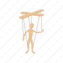cartoon, doll, marionette, puppet, string, toy, wooden icon