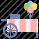 balloon, cart, stall icon