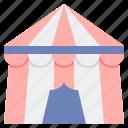 carnival, circus, festival, tent icon