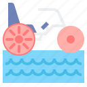 ride, tricycle, water icon