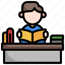 reading, student, study, book, blended, learning
