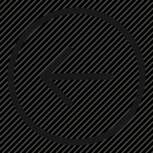 arrow, back, direction, left, move, navigation icon