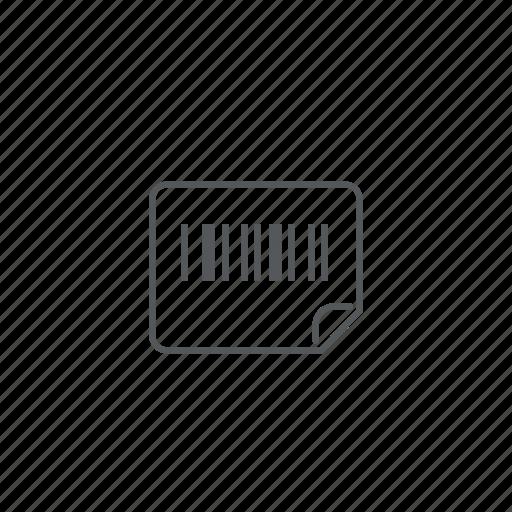 barcode, label, sticker, tag icon