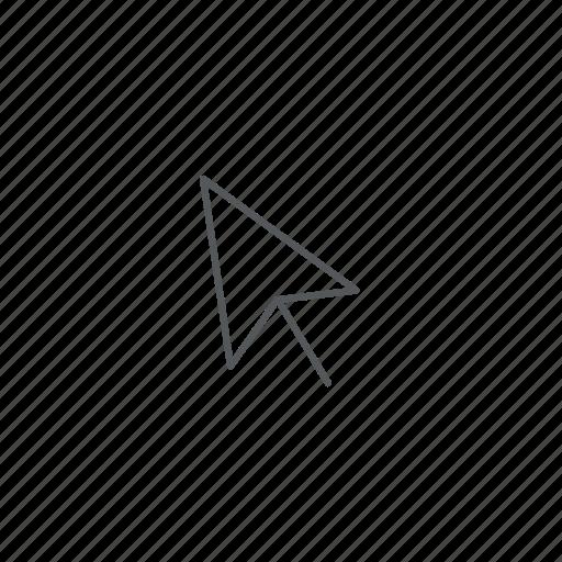 arrow, click, cursor, online icon
