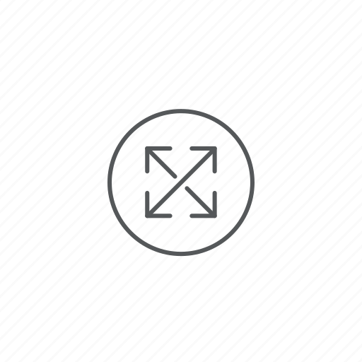 arrows, expand, zoom icon