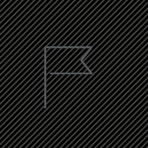 flag, notification icon