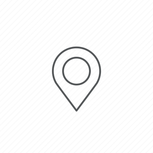 direction, location, pin icon