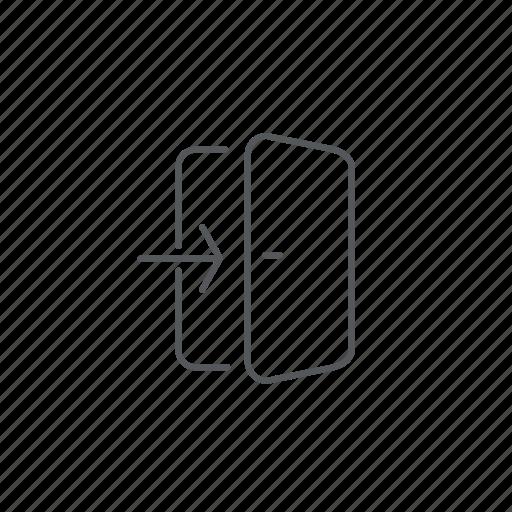doors, enter, login icon