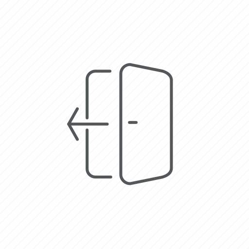 doors, leave, logout icon