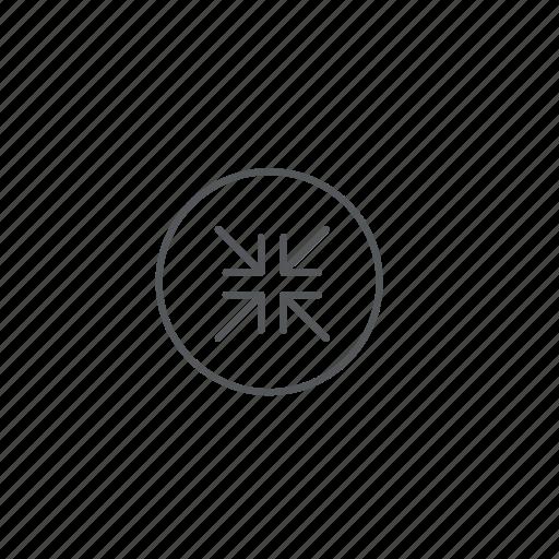 arrows, reduce, zoom icon