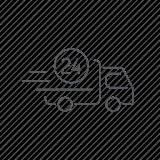 car, shipping, transport, van, vehicle icon