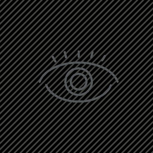 eye, look, watch, watchdog icon