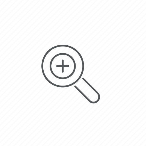 magnifying glass, plus, zoom in icon