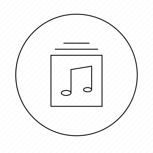 album, document, file, folder, music, note, play icon