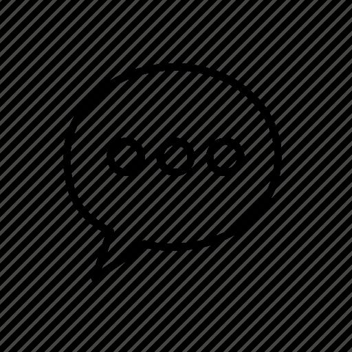 chat status, chatting icon