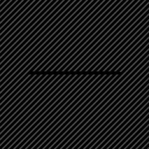 line, minus, subtract icon