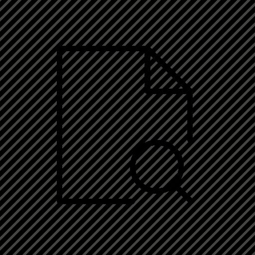file, search, search doc, search file icon