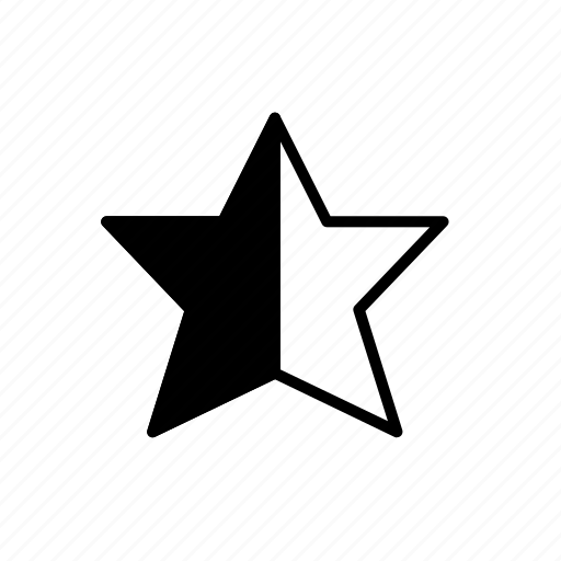 favorite, half star, rate, rating icon