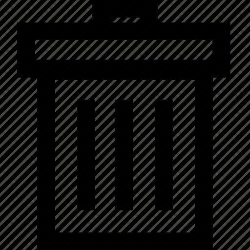 can, empty, trash, trashcan, waste icon