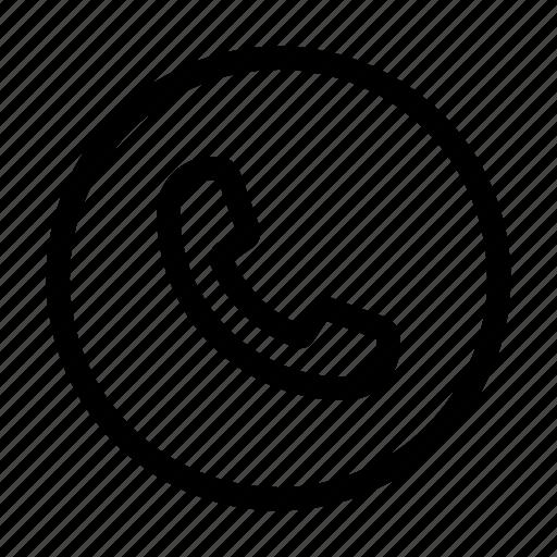 call, circle, commu, communication, contact, phone, ui icon
