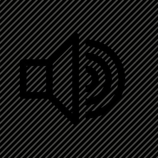 audio, high, player, sound, speaker, ui, volume icon