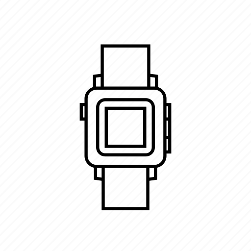 gadget, smartwatch, tech, time, watch icon